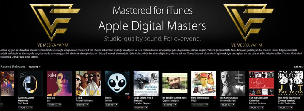 Apple Digital Masters Mastered for itunes